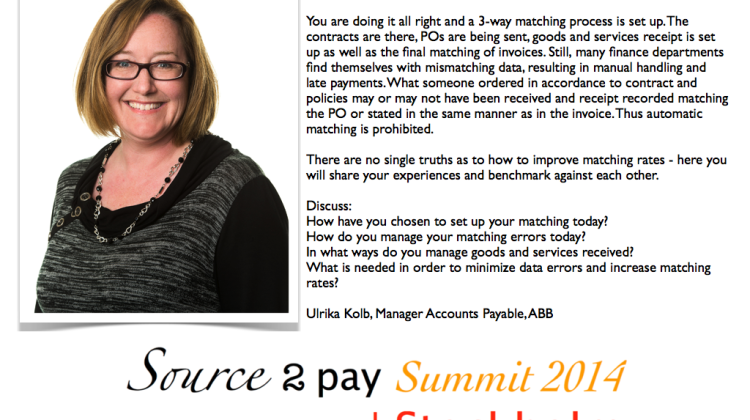 Ulrika Kolb Source to Pay Summit
