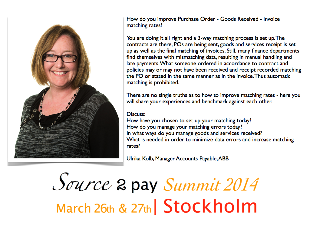 Ulrika Kolb Source to Pay Summit