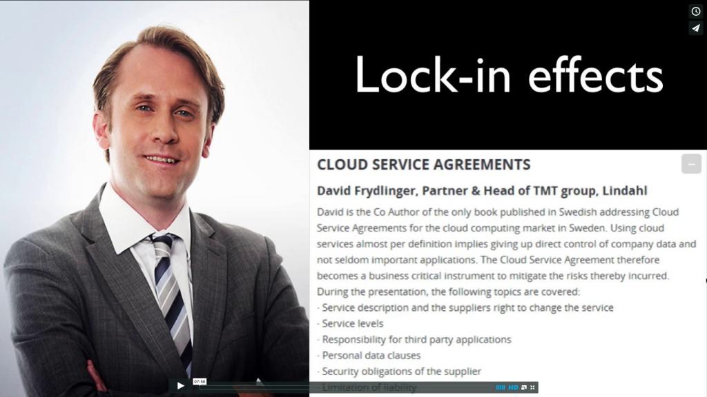 David Frydlinger Cloud Service Agreements