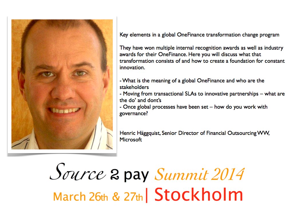 Henric Häggquist Source to Pay Summit