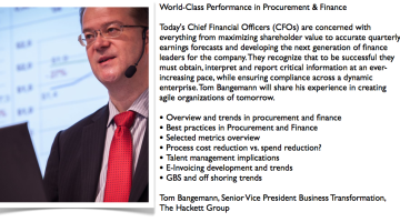 EBG Play: The Hackett Group on world class finance and procurement performance