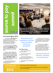 post summit report 2014