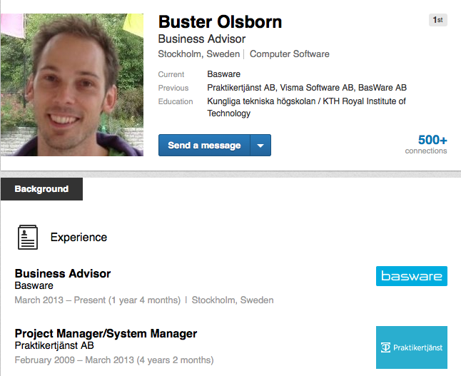 Buster Olsborn Basware interview