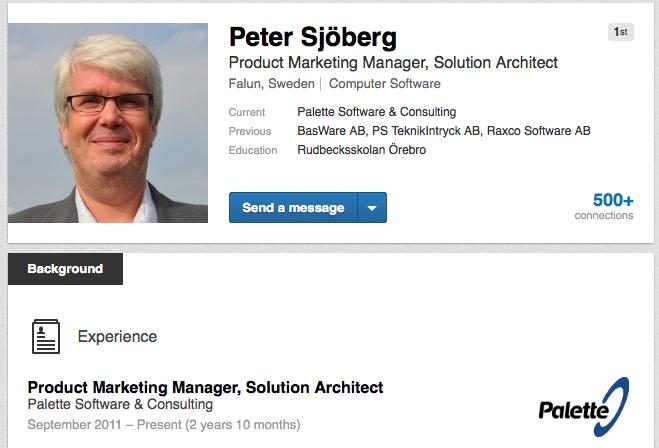 Peter Sjöberg Palette