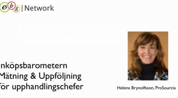 """EBG Play: Inspelat webinar """"Mätning & Uppföljning för Upphandlingschefer"""""""