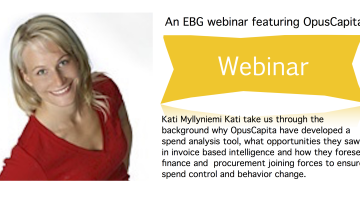EBG Webinar May 22nd: Spend analysis revealing the hidden gold in accounts payable data