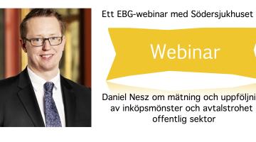 EBG Webinar 2 juni: Mätning och uppföljning av inköpsmönster och avtalstrohet i offentlig sektor