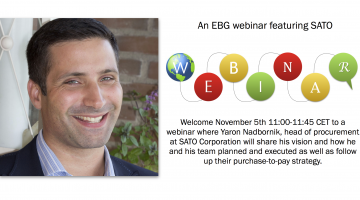 EBG Webinar: Enabling purchase-to-pay spend control linking strategies, processes and technology together