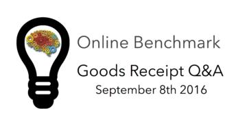 Online Goods Receipt Q&A Benchmark