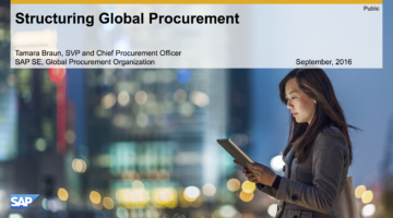 EBG | Play: Structuring global procurement