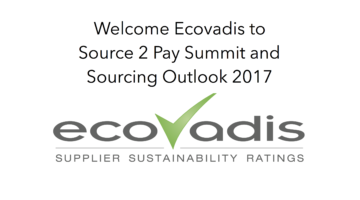 EcoVadis to Source 2 Pay Summit & Sourcing Outlook 2017
