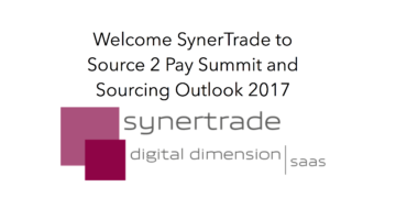 SynerTrade to Source 2 Pay Summit & Sourcing Outlook 2017