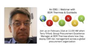 EBG | Webinar: Deploying supplier CSR monitoring across a global purchasing organization