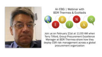 EBG | Webinar: Deploying supplier CSR monitoring across a global purchasing organization
