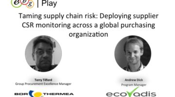 EBG | Play: Deploying supplier CSR monitoring across a global purchasing organization