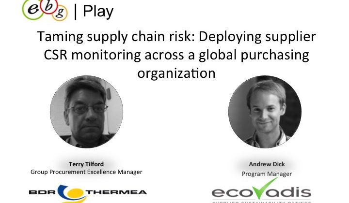 EBG | Play: Deploying supplier CSR monitoring across a global purchasing organization