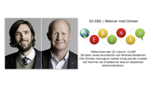 EBG | Webinar: Leder du framtidens ekonomifunktion? Så tar ni tillvara de datadrivna möjligheterna