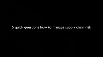 5 questions about how to manage supply chain risk