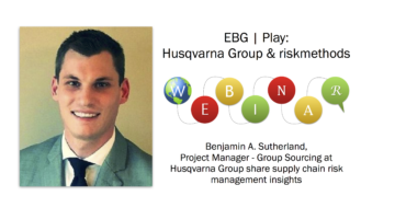 EBG | Play: Supply Chain Risk Management – tips and insights from Husqvarna Group