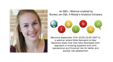 EBG | Webinar: Aker Solutions insights: Achieving reputational and financial risk control