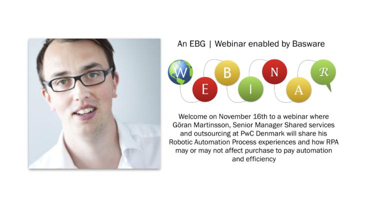 EBG | Webinar: Robotic implications on purchase to pay efficiency and effect