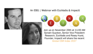 EBG | Webinar: Global CSR Risk & Performance: Insights From The 2017 Index
