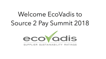 EcoVadis join Source 2 Pay Summit 2018