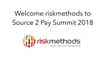 riskmethods join Source 2 Pay Summit 2018