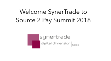 SynerTrade join Source 2 Pay Summit 2018
