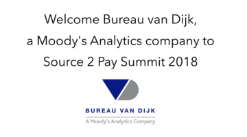 Bureau van Dijk join Source 2 Pay Summit 2018