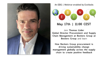 EBG | Webinar: How Beckers Group procurement is driving sustainability change management
