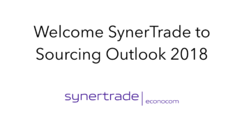 SynerTrade join Sourcing Outlook 2018