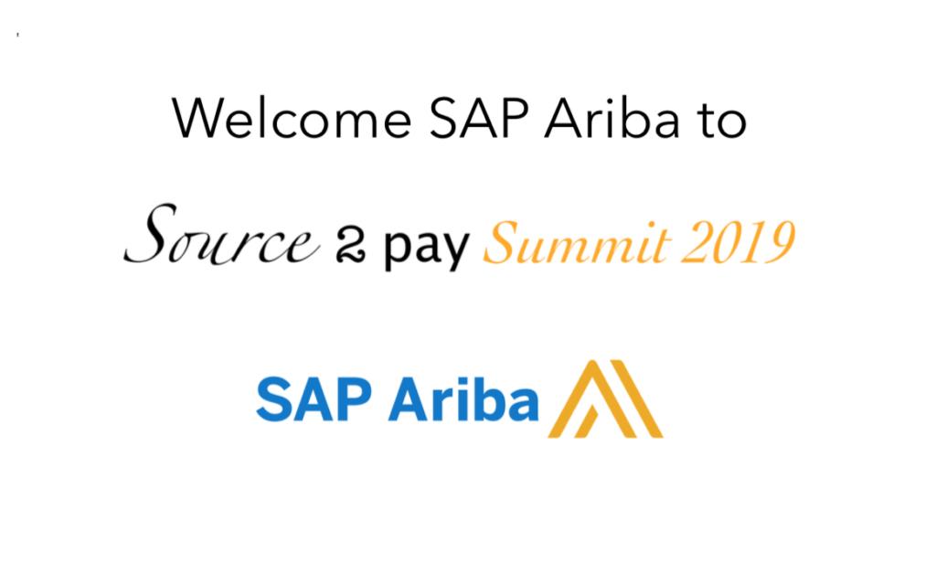 SAP Ariba join Source 2 Pay Summit 2019 | EBG Network